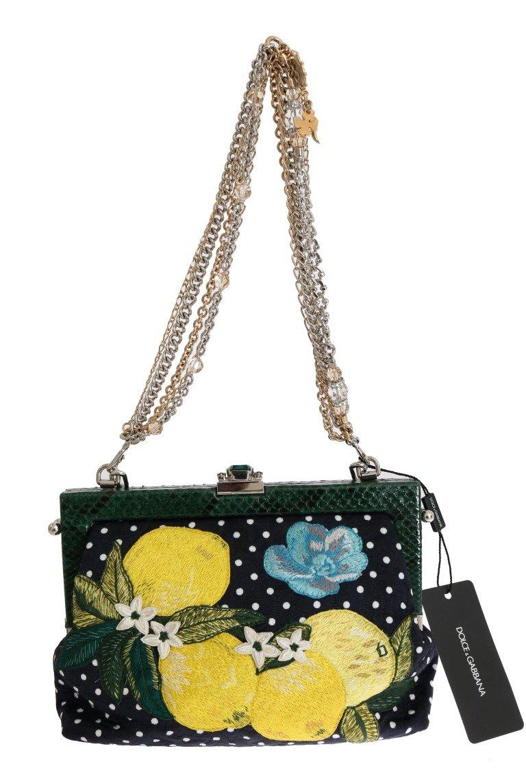 Dolce & Gabbana Women's VANDA Floral Embroidered Clutch Bag Multicolor VAS1246