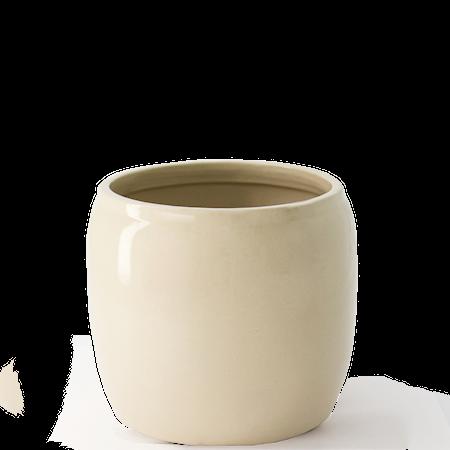 Krukke Glasert Keramikk 19,5 x 18 cm Beige