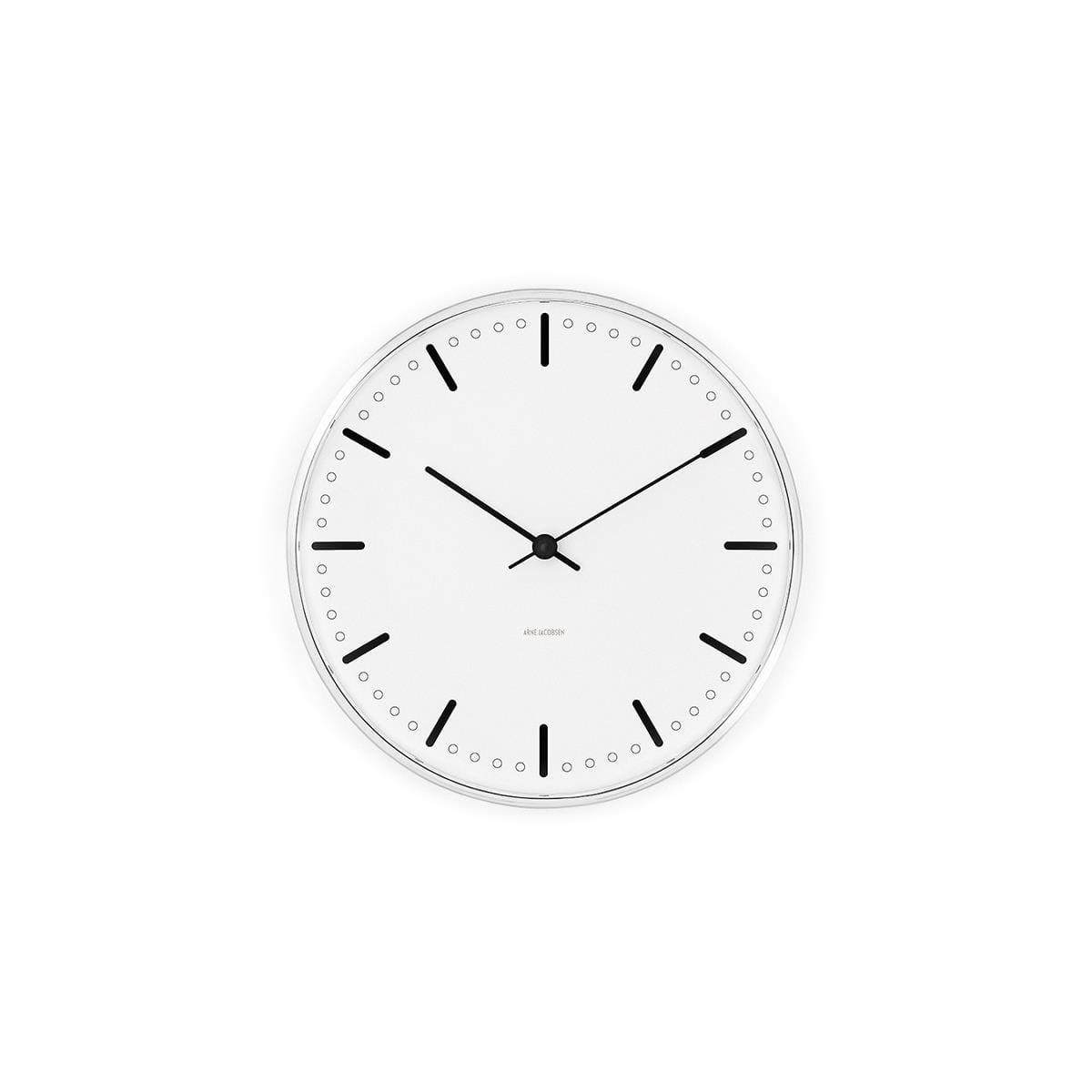 Arne Jacobsen - City Hall Wall Clock 21 cm - White (43631)