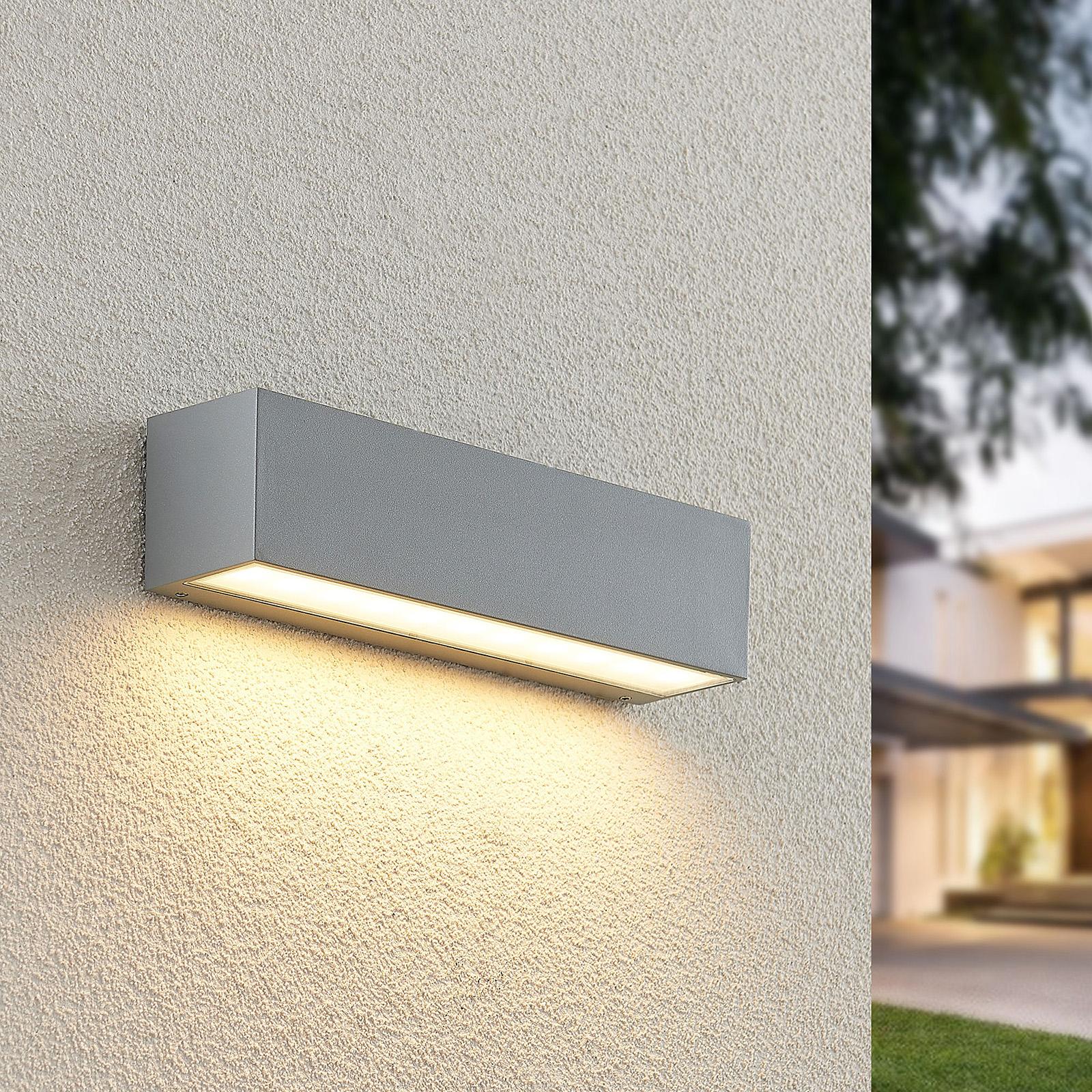 Lucande Lengo-LED-seinävalo 25cm hopea 1 lamppua