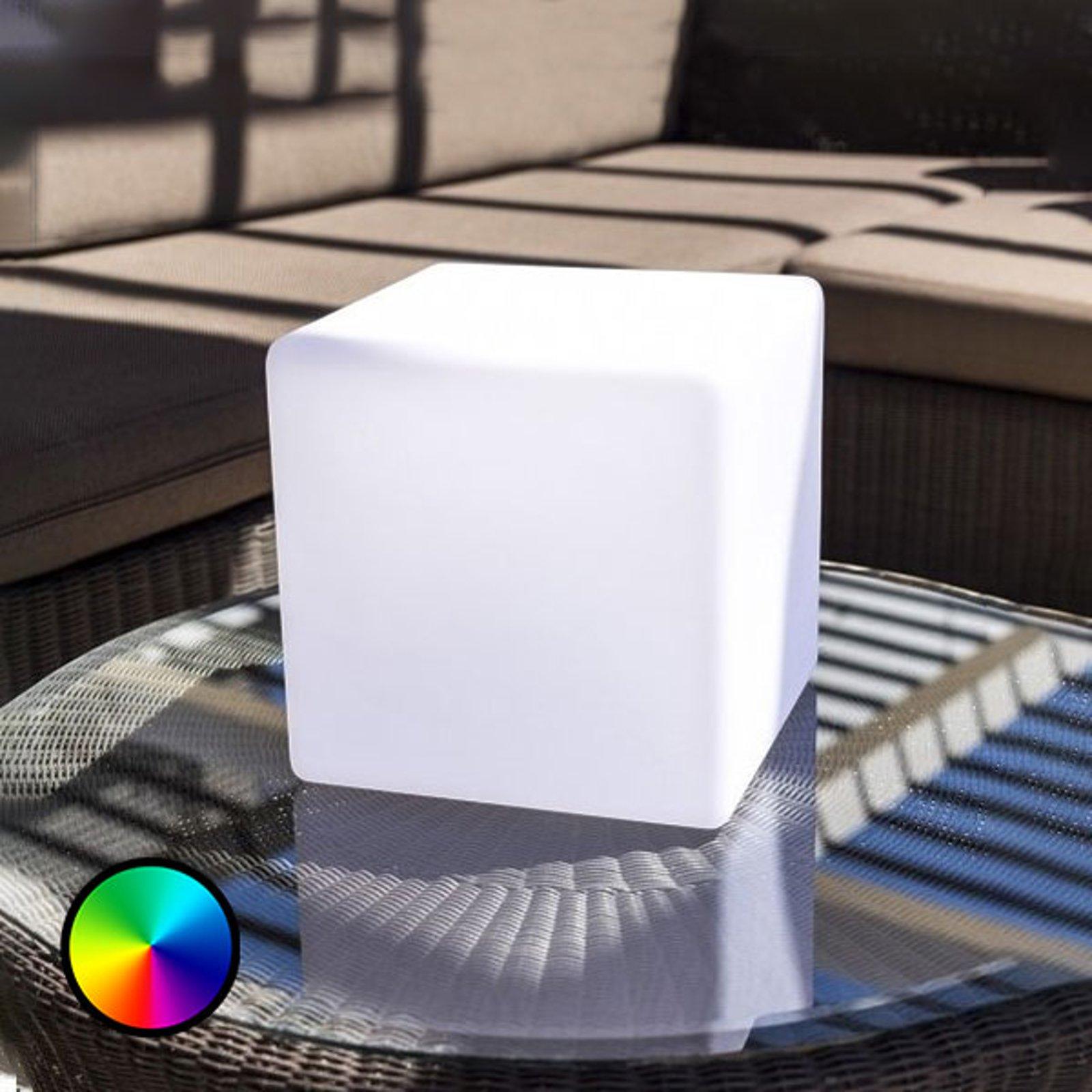 Deko-bordlampe Dice, styrbar via app RGBW 25 cm