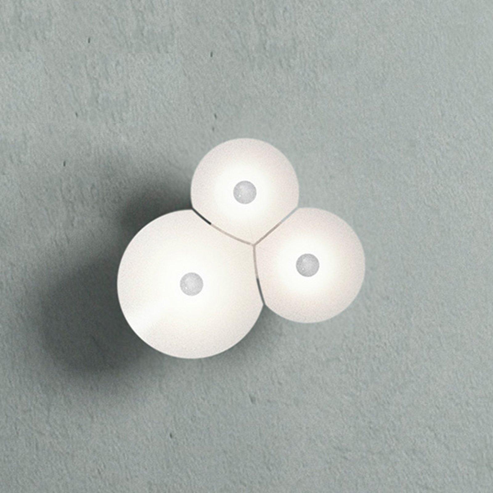 Luceplan Bulbullia LED-vegglampe 3 lyskilder