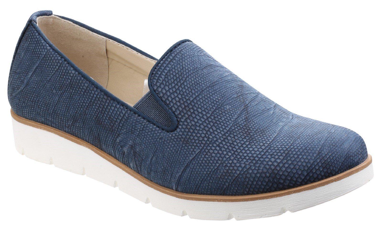 Divaz Women's Mariah Slip On Twin Gusset Shoe Blue 24957-41306 - Blue 3