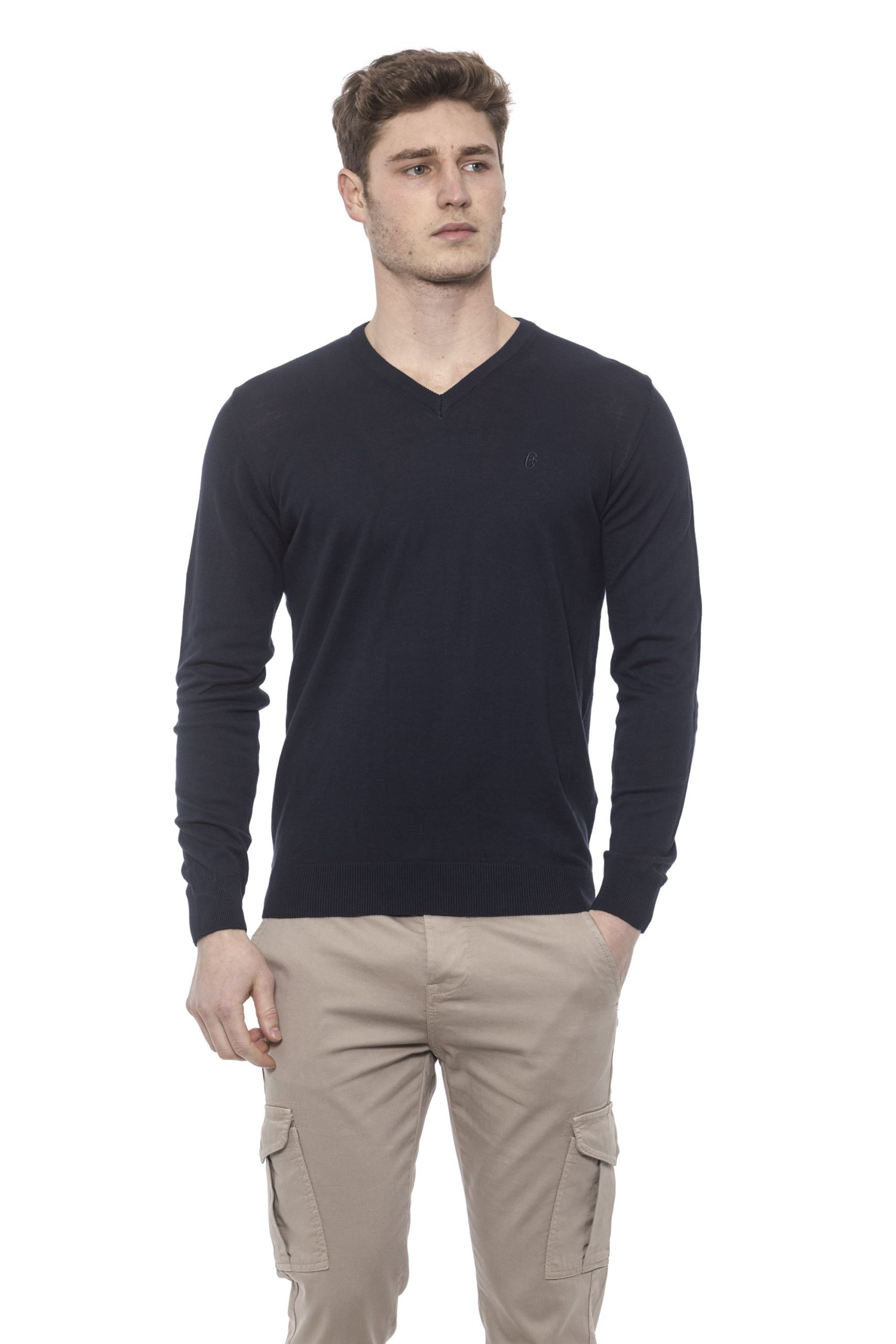 Conte of Florence Men's Sweater Blue CO1376428 - S