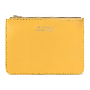 The Animals Observatory Leather Pouch Yellow The Animals One Size