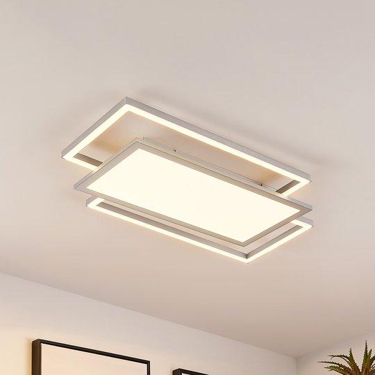 Lucande Ciaran -LED-kattovalaisin, suorakaide