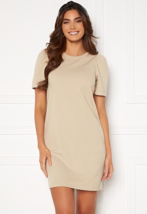 ONLY Dianna S/S O-Neck Dress Silver Lining L