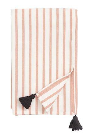 Bordduk Stripe - Peach/off white