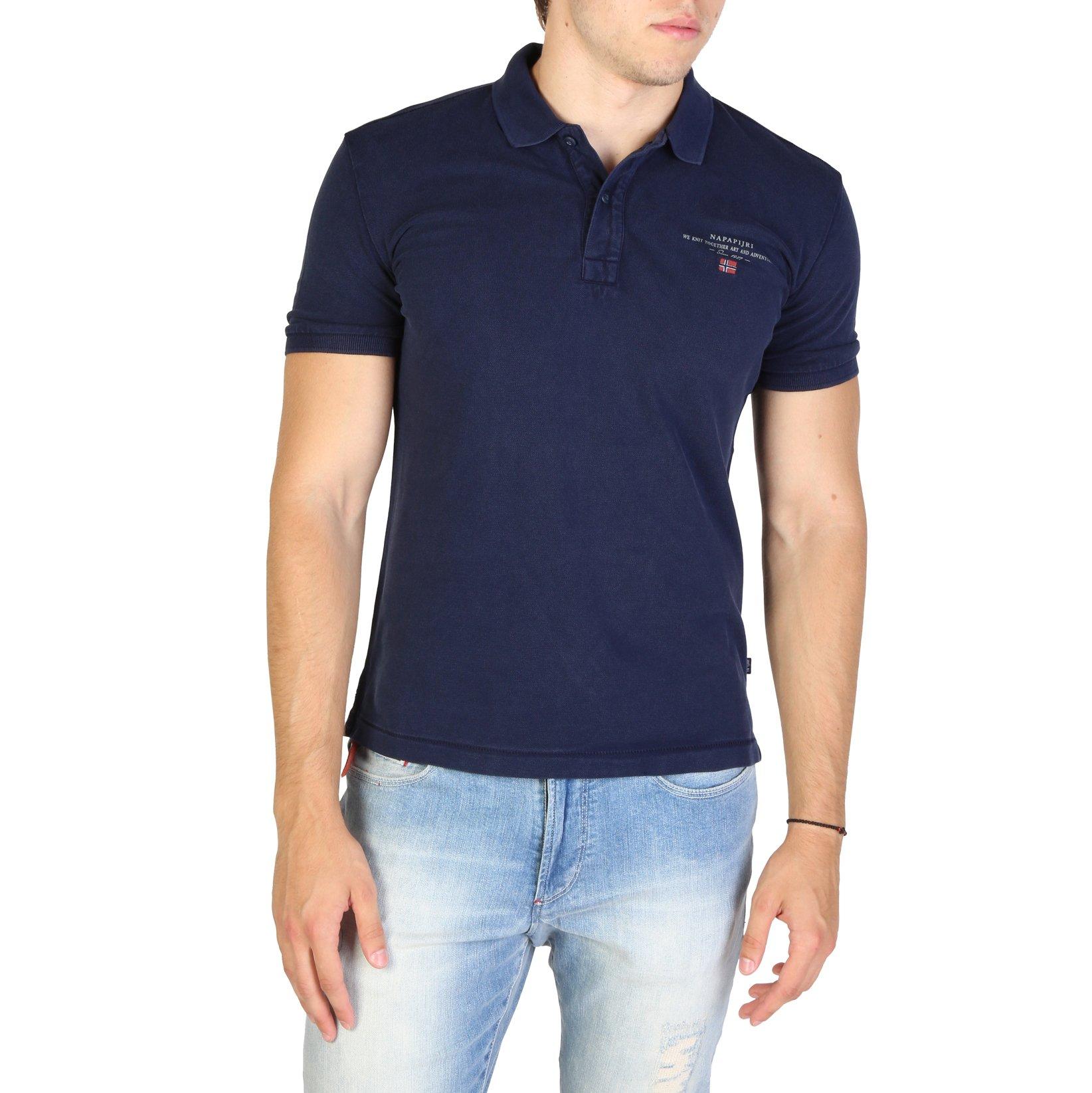Napapijri Men's Polo Shirt Various Colours ELBAS3_NP0A4EGC - blue S