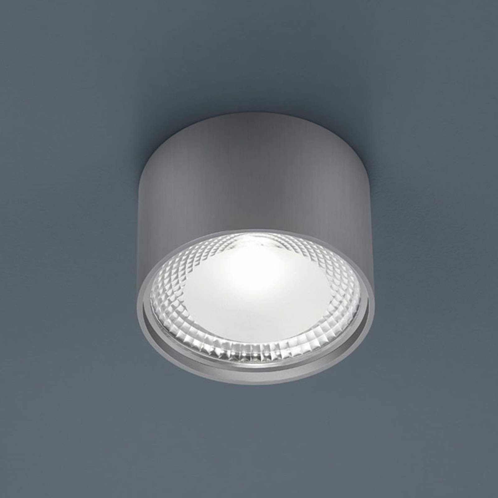 Helestra Kari LED-taklampe, rund, nikkel