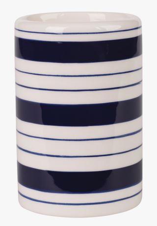 Stripy hammasharjamuki sininen