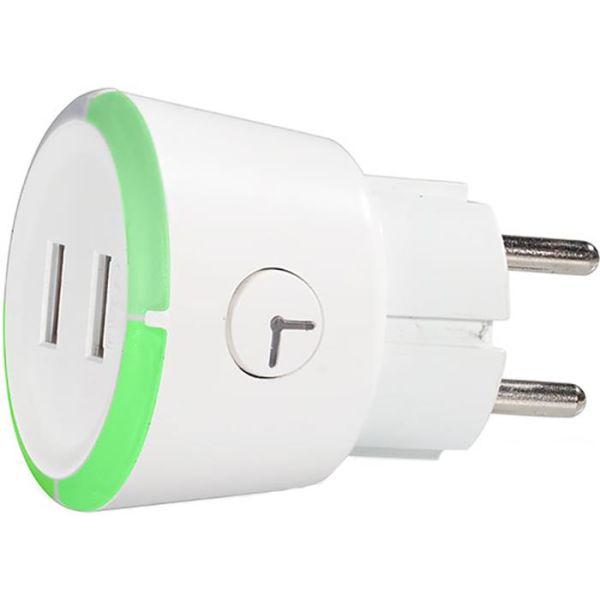CAPiDi TIUSBTI USB-laturi valkoinen, sis. ajastimen