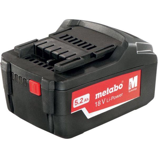 Metabo 18V Li-Power Li-Ion-batteri 5,2Ah
