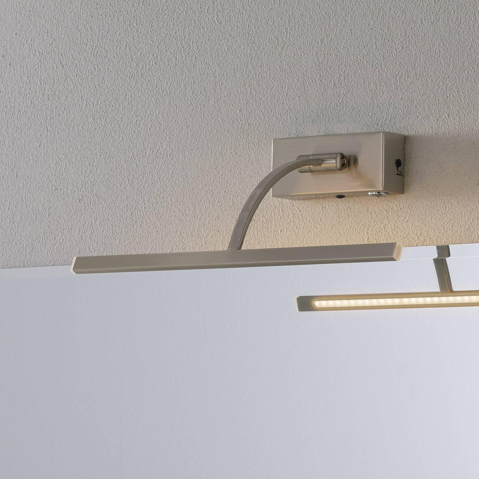 LED-vegglampe Matisse, bredde 34 cm, sølv