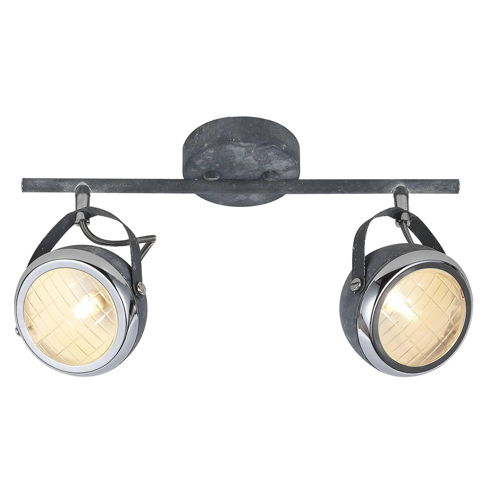 Betonggrå taklampe Rider, 2 lyskilder