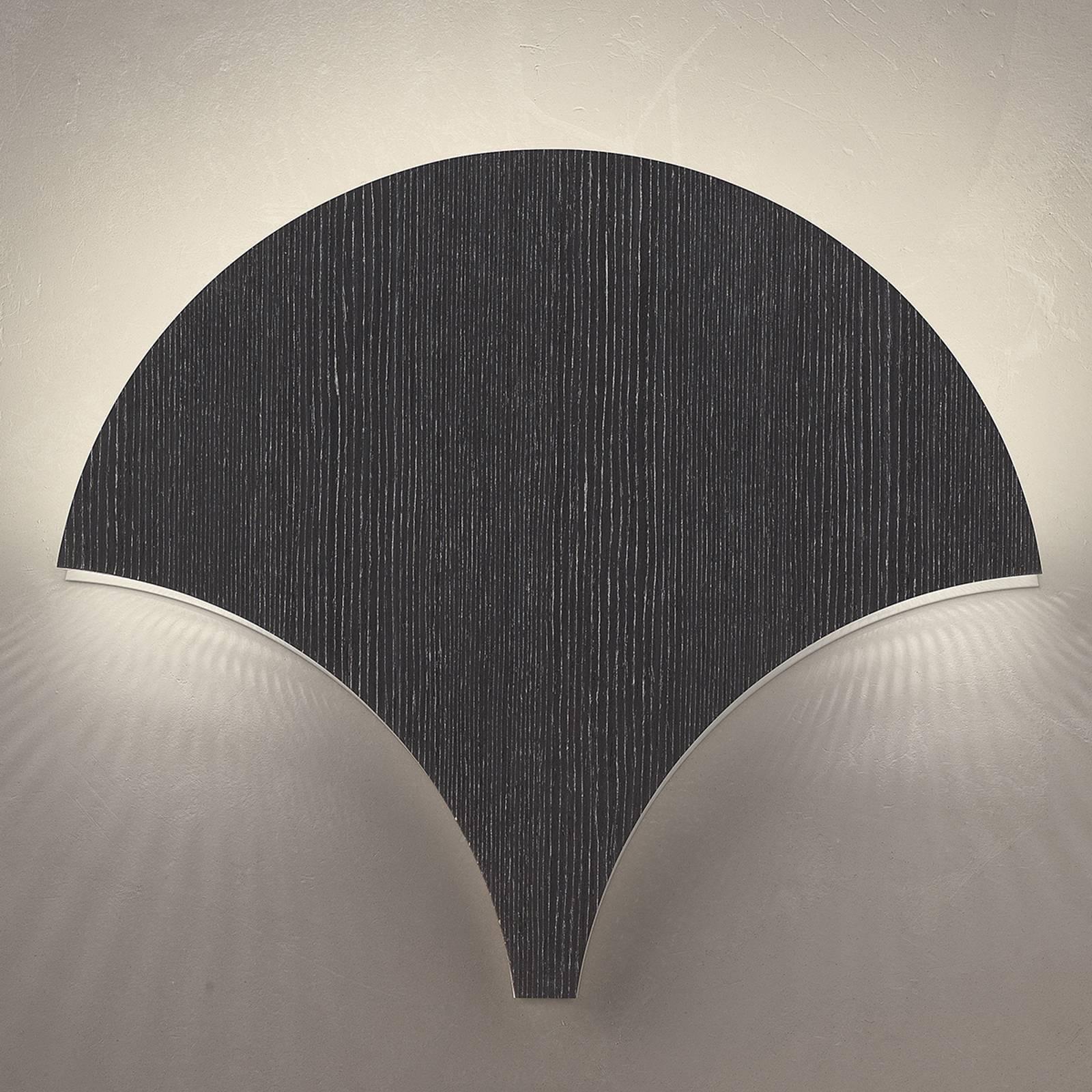 Ainutlaatuinen LED-seinävalaisin Palm mustan hopea