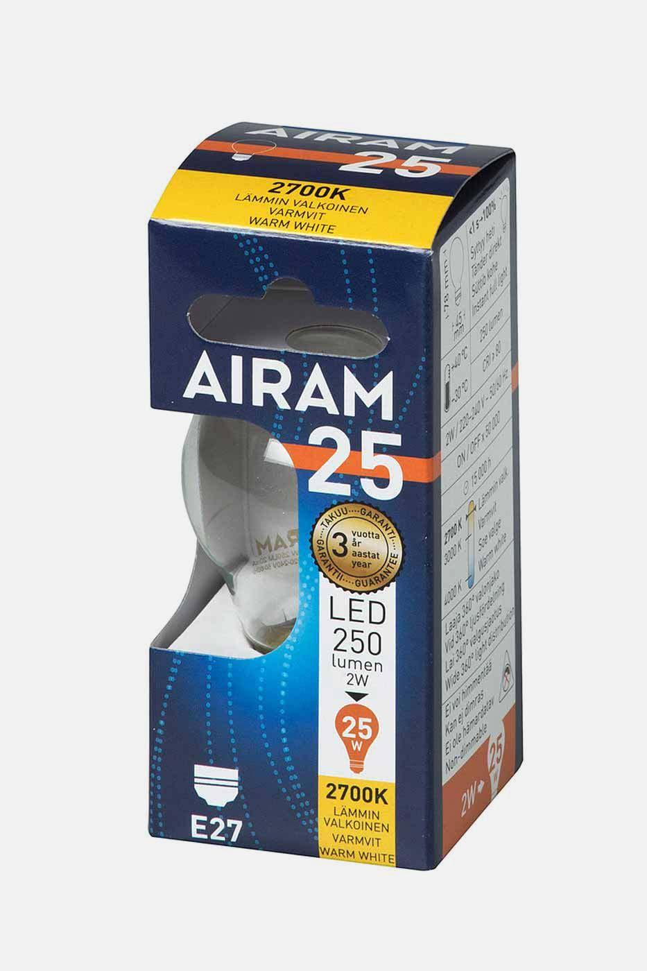 Ljusskälla Filament LED klotlampa E27 2W