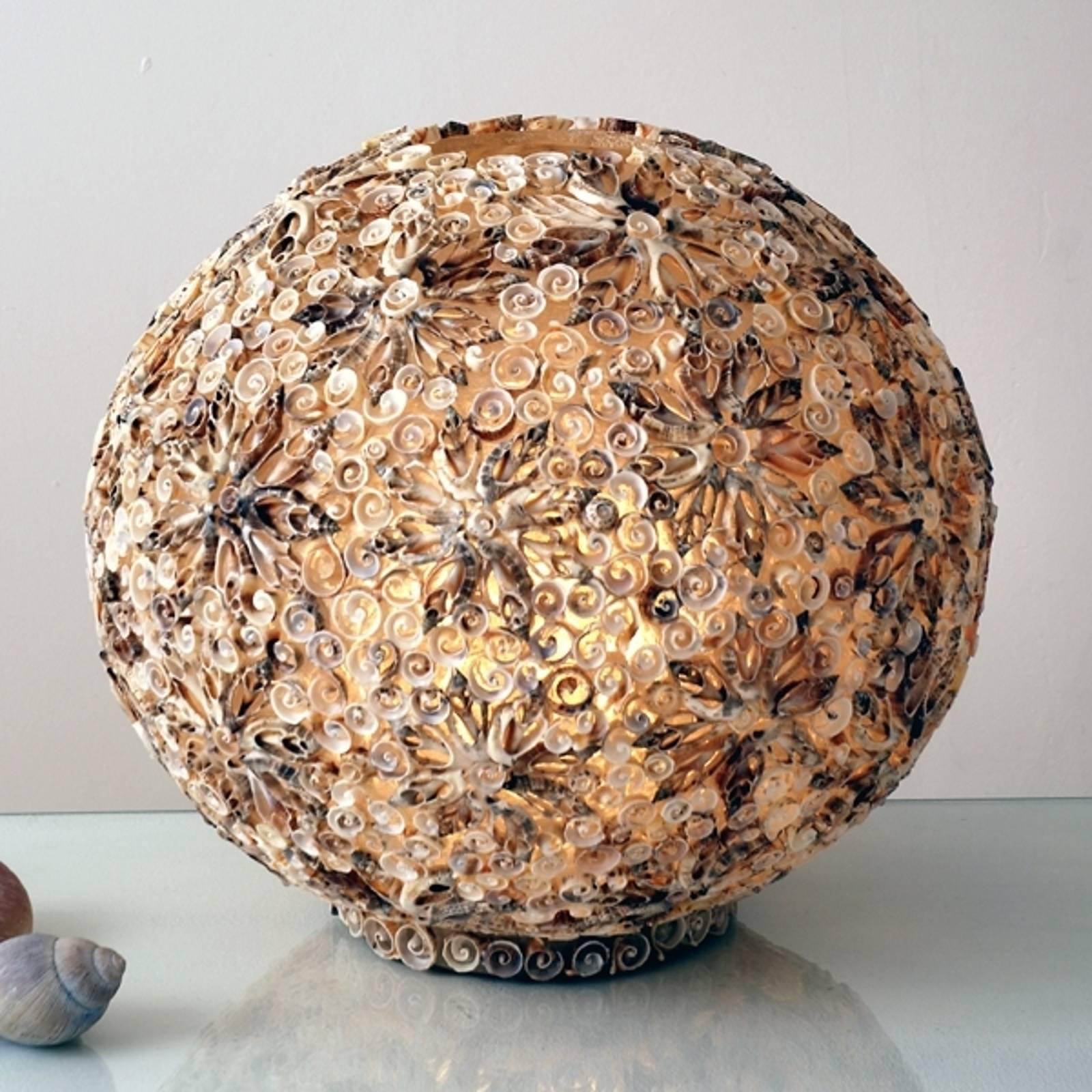 Koristeellinen pöytävalaisin simpukkapallo, 40 cm