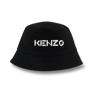 Kenzo Black Branded Bucket Hat T1