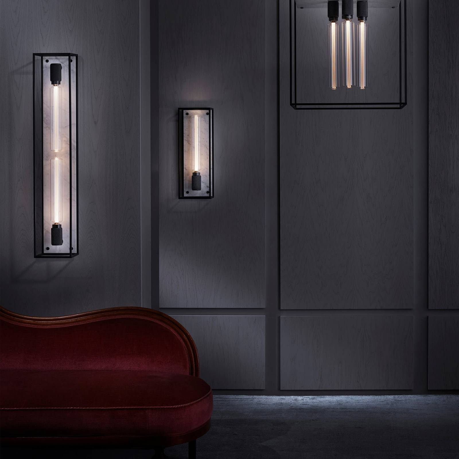 Buster + Punch Caged Wall large LED marmori