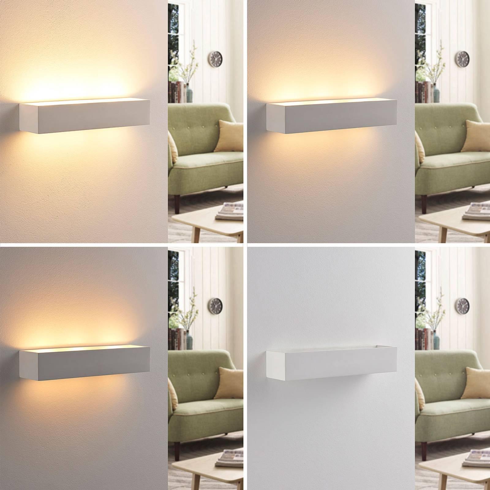 Arya – LED-seinävalaisin valkoista kipsiä