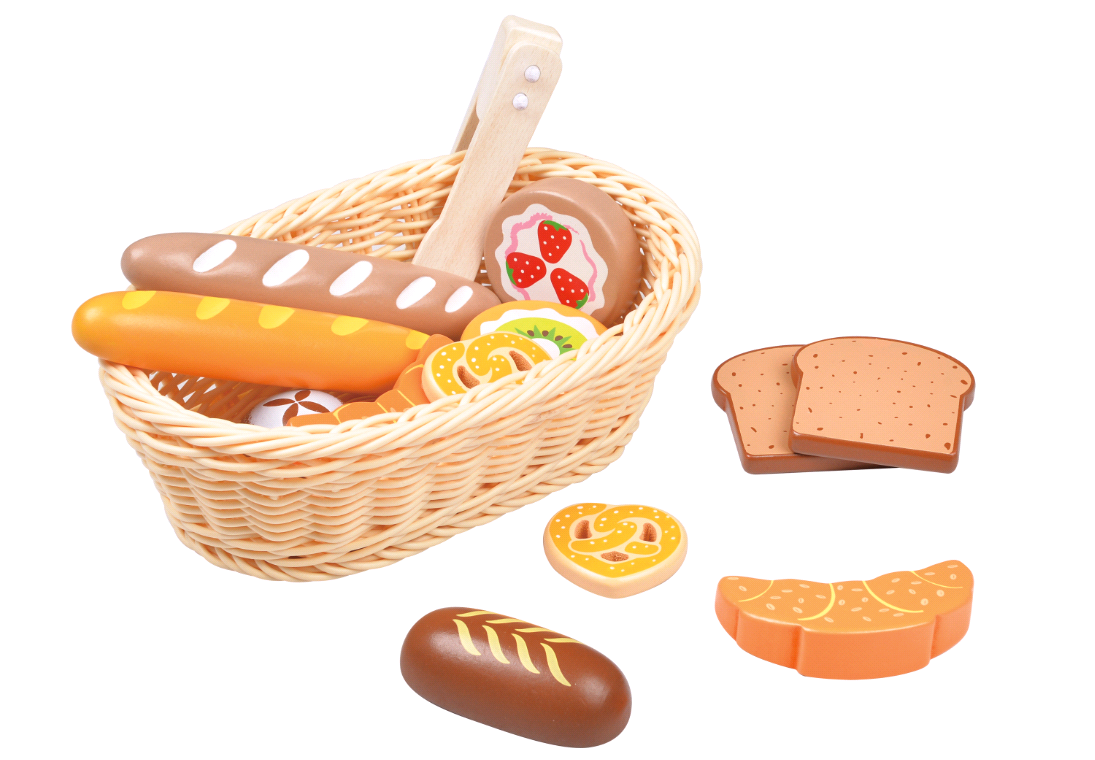 Small Wood - Bakery Selection in Basket (L40188)