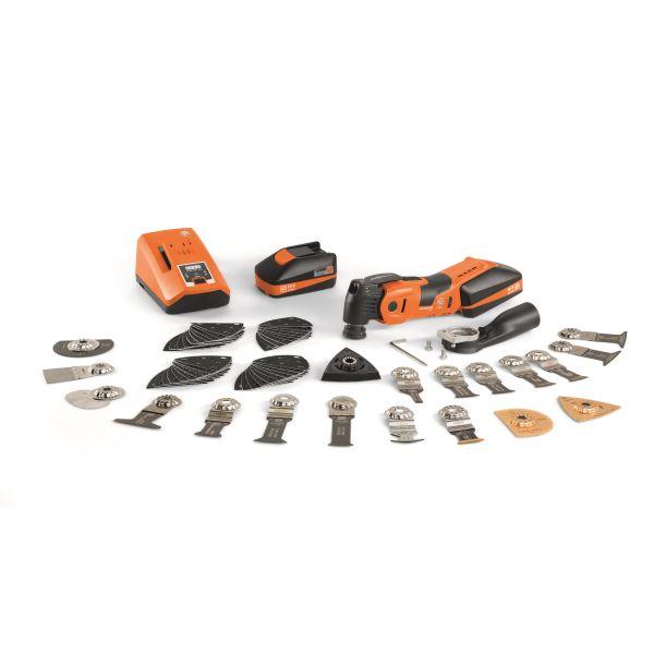 Fein MultiMaster AMM 700 Max Top Monitoimityökalu sis. akut, laturin ja tarvikkeet