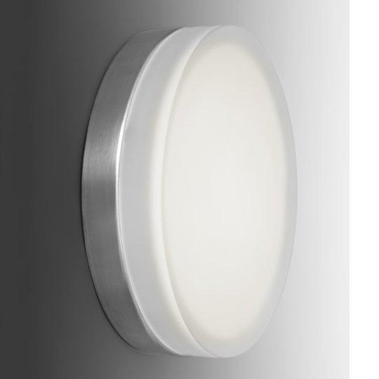 Pelkistetty pyöreä LED-seinävalaisin Briq 01 3000K