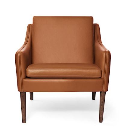 Mr. Olsen Lounge Chair Cognac Läder Smoked Ek