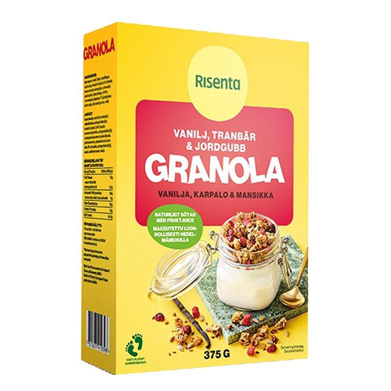 Granola Vanilj, Tranbär & Jordgubb 375g - 27% rabatt