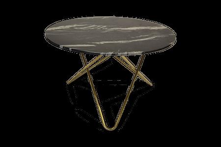 Big O Spisebord Messing/Svart Marmor Ø120