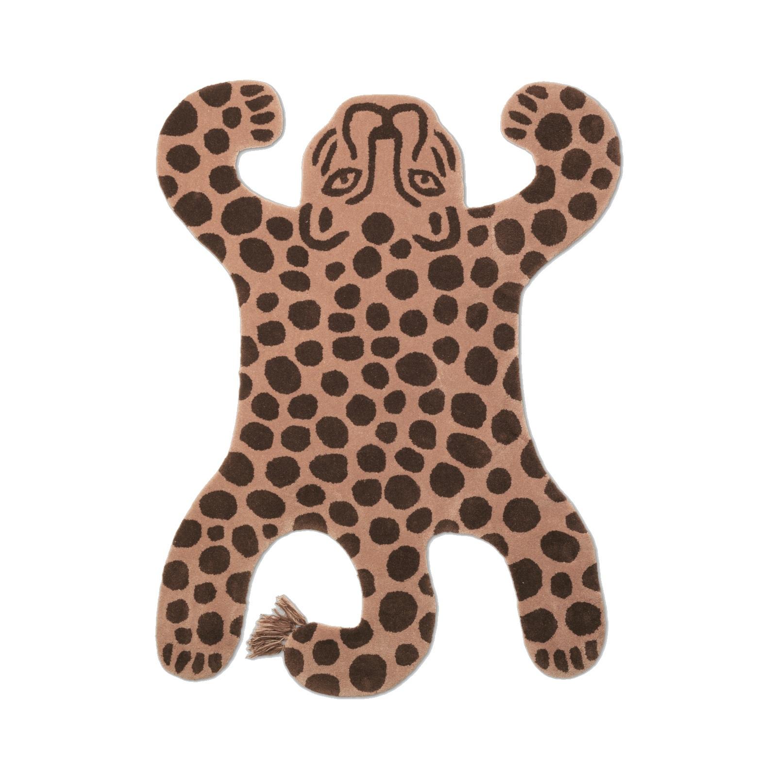 Leopardmatta SAFARI ullmatta barnrum, Ferm Living
