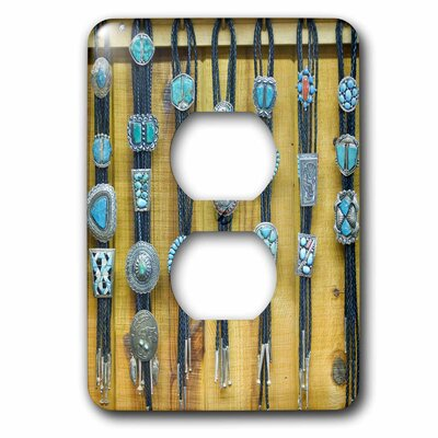 New Mexico, Gallup, Bolo Ties for Sale, Market 1-Gang Duplex Outlet Wall Plate