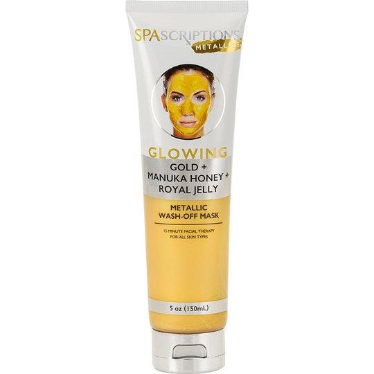 Glowing Metallic Wash-Off Mask, 150 ml Spascriptions Kasvonaamiot