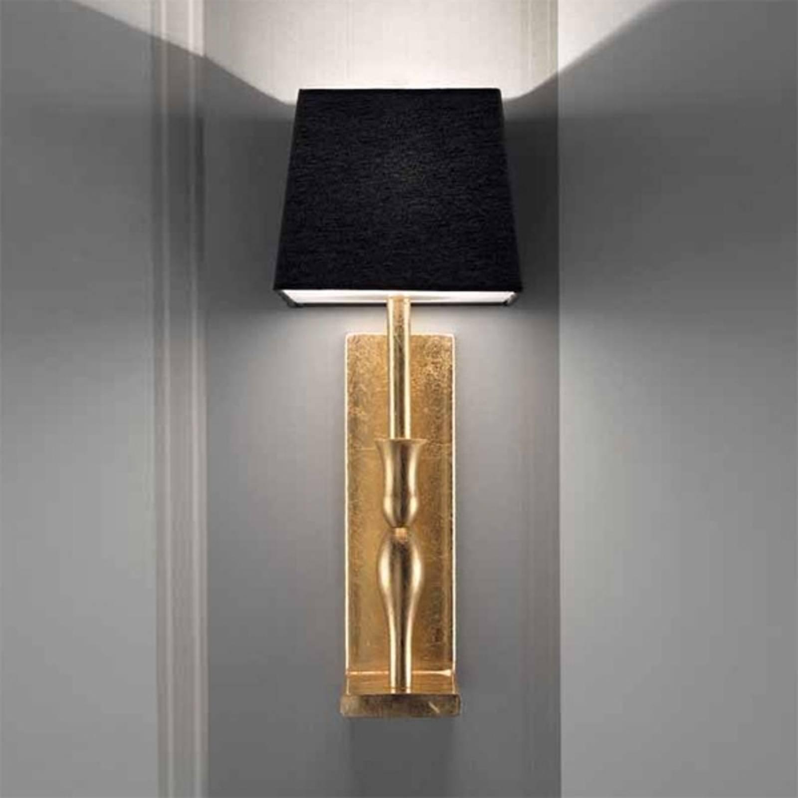 Vegglampe Slim i svart og gull