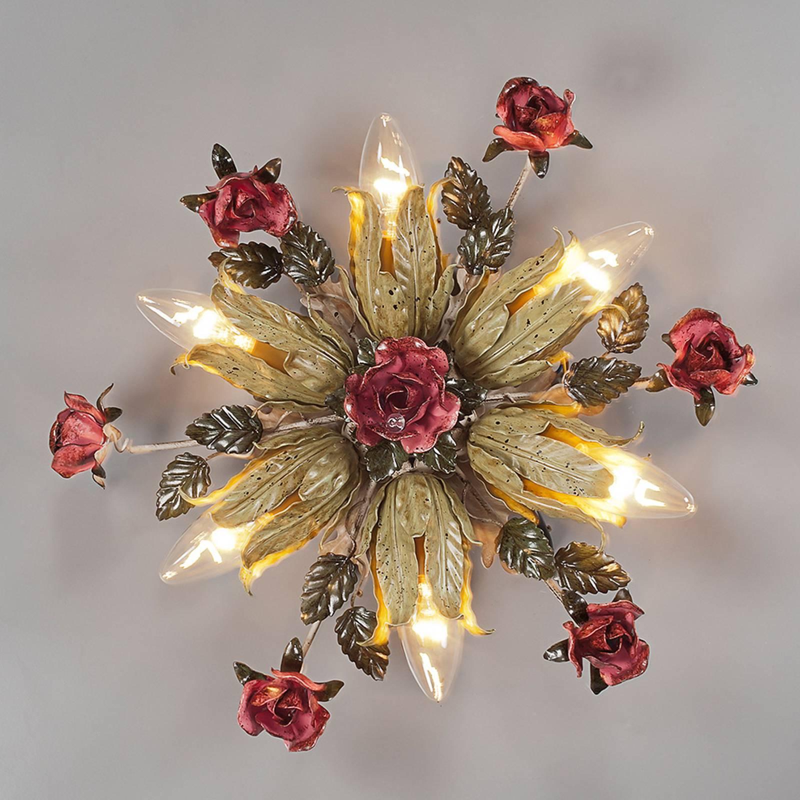 Firenzeläistyylinen seinälamppu Fiama 6-lamppuinen