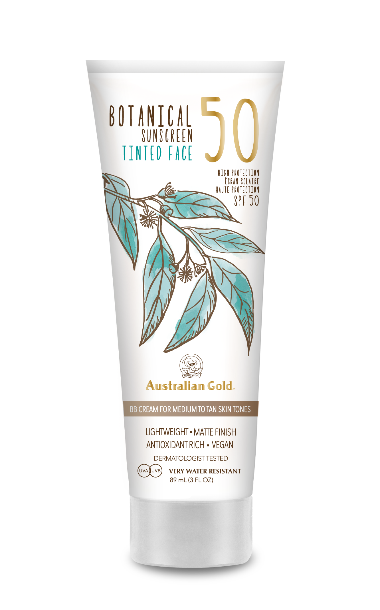 Australian Gold - Botanical Tinted Face Cream SPF 50 88 ml - Medium/Tan
