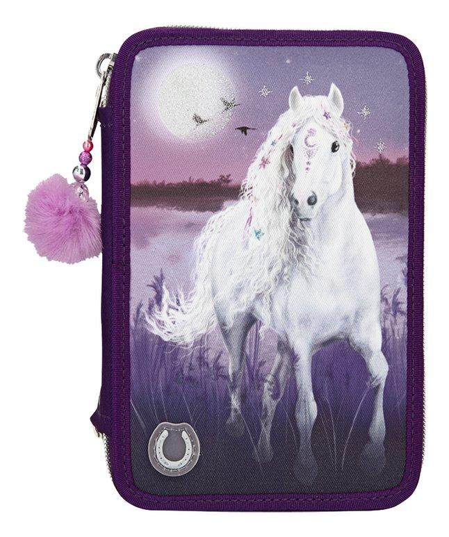 Miss Melody - Trippel Pencil Case w/LED - Purple (0410805)