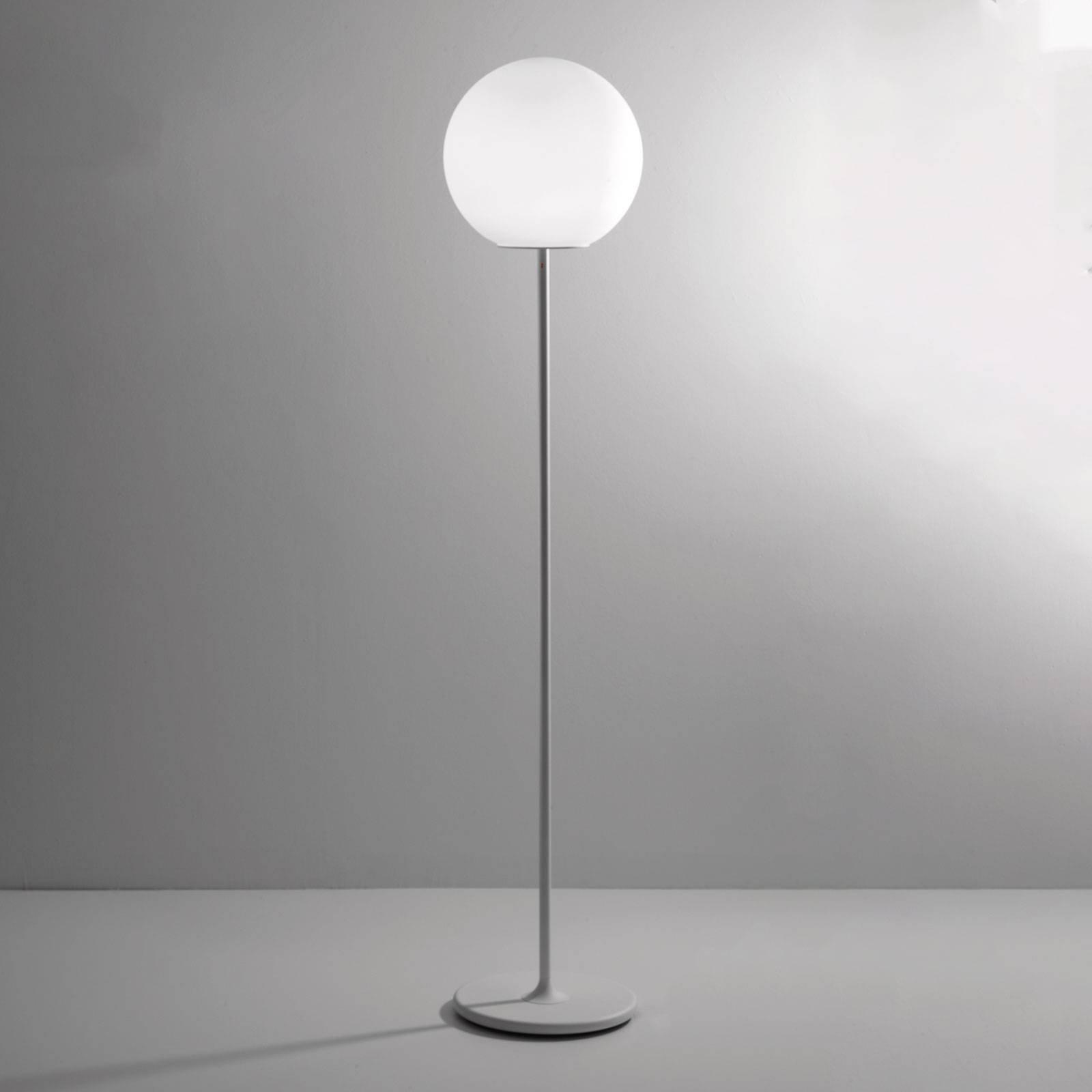 Fabbian Lumi Sfera gulvlampe av glass, Ø 35 cm