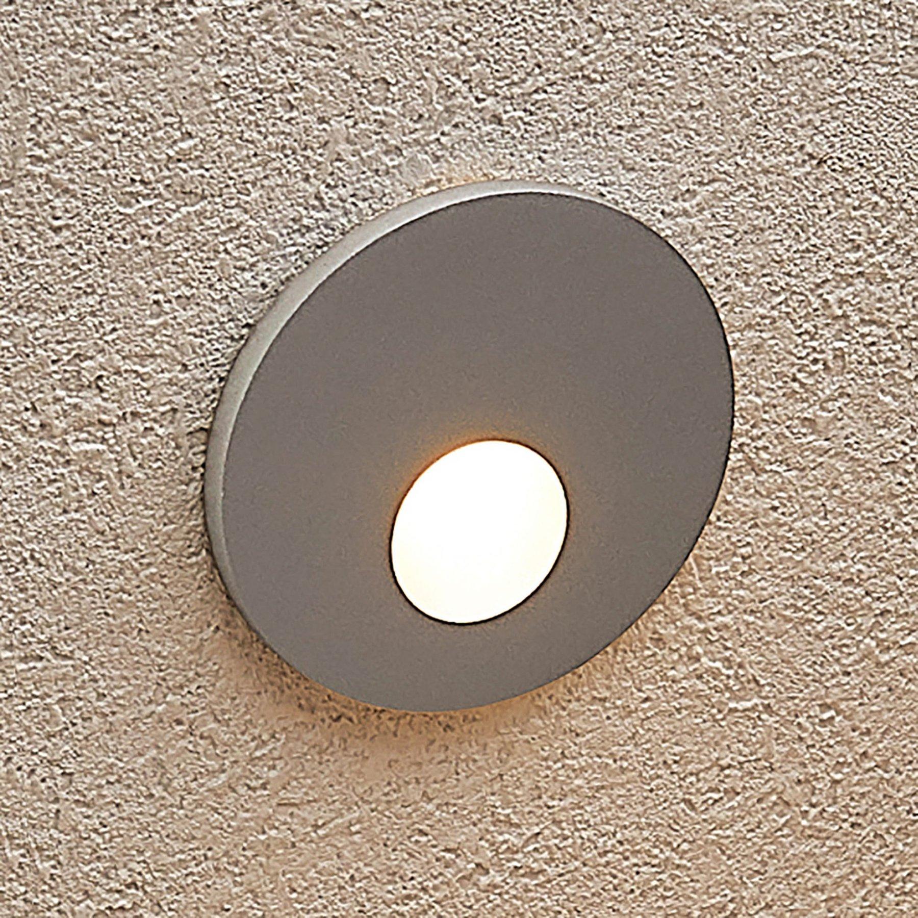 Arcchio Vexi LED-innfellingslampe, rund, sølv
