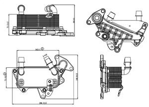 Öljynjäähdytin, moottoriöljy, SKODA OCTAVIA II, OCTAVIA Combi II, SUPERB II, SUPERB Kombi II, VW PASSAT, PASSAT Variant, 3C0317037A