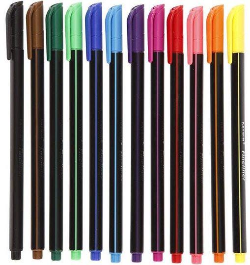 Colortime Dobbeltusj Blandede Farger 12 stk