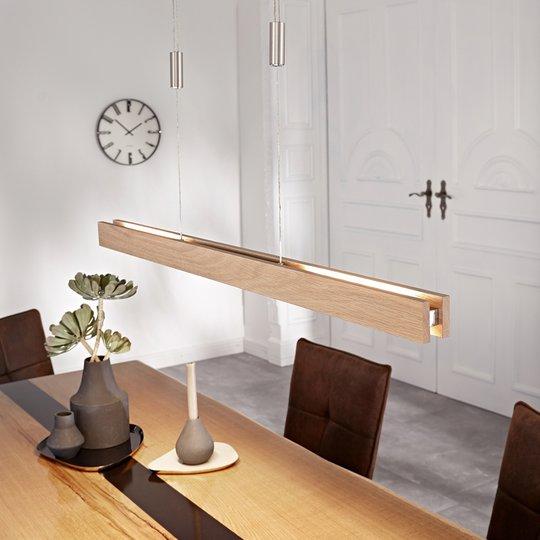 LED-riippuvalaisin Alin, luonnontammi, 98 cm