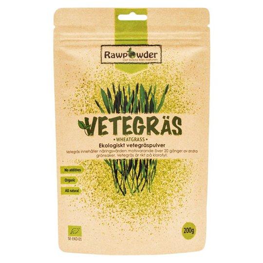 Rawpowder Ekologiskt Vetegräspulver, 200 g
