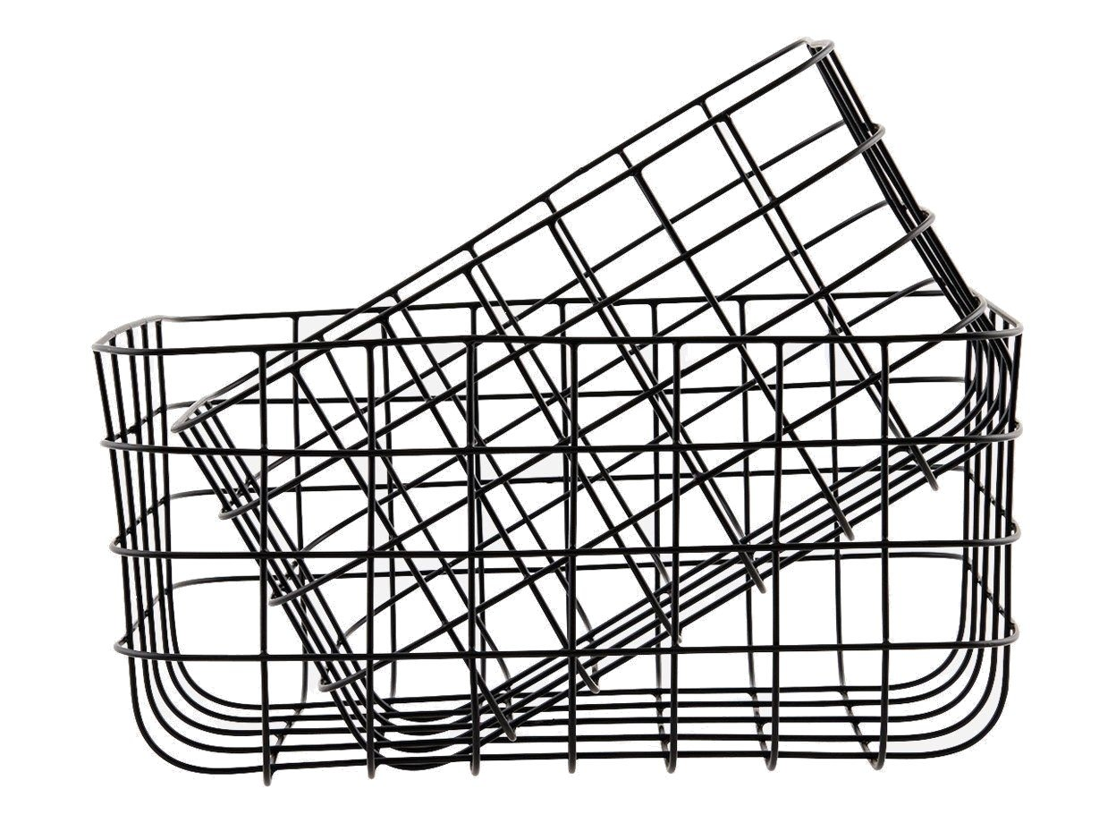 House Doctor - Medium Simply Basket Set of 2 - Black (Sp0389)