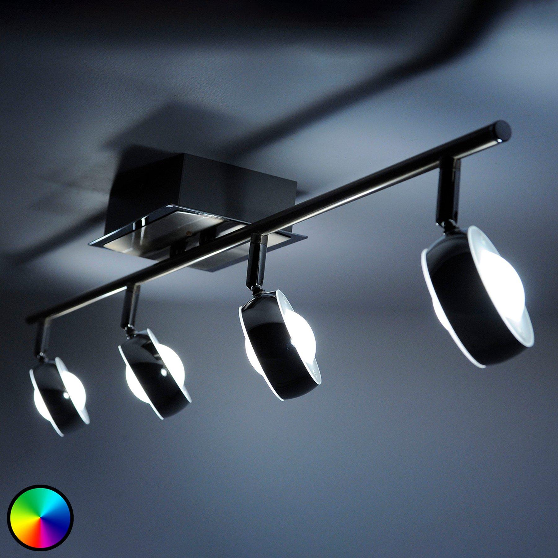 LED-taklampe Majvi med justerbart lys