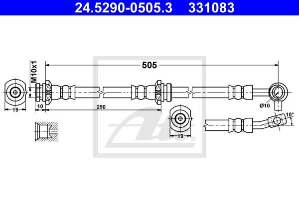 Jarruletku ATE 24.5290-0505.3