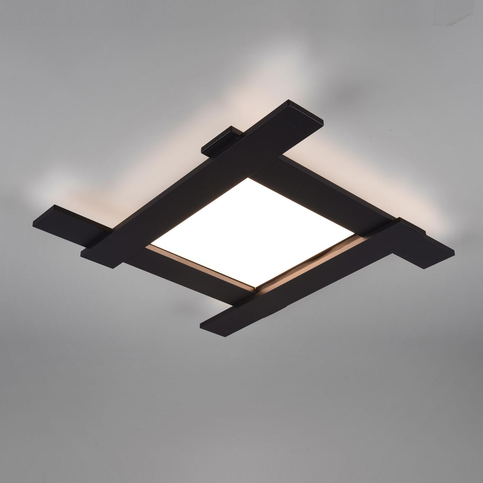 LED-kattovalaisin Belfast, suora/epäsuora musta