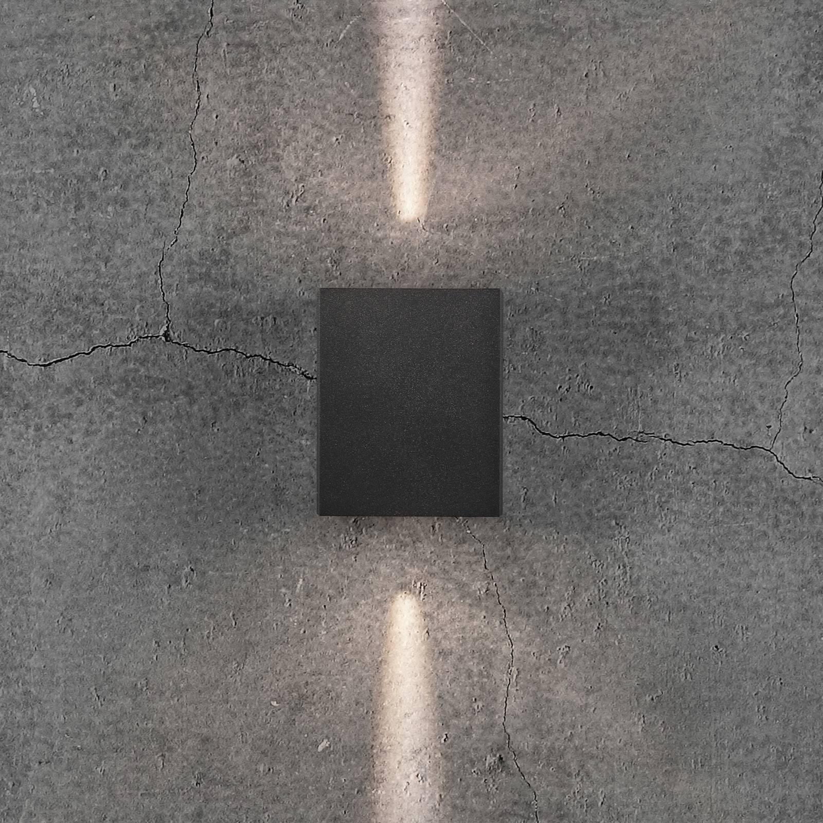 LED-ulkoseinävalaisin Canto Kubi 2, 10 cm, musta