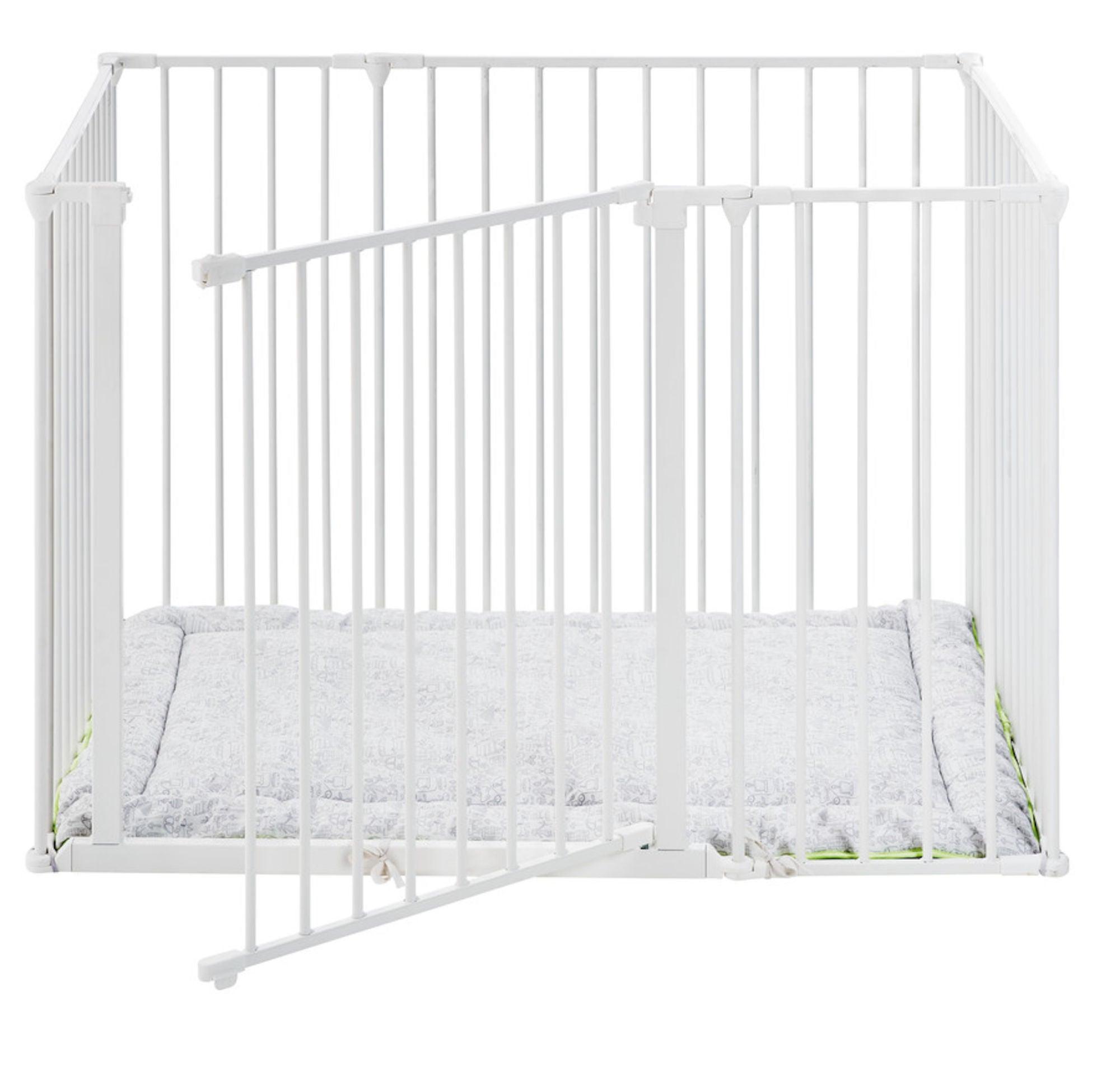BabyDan Square Leikkikehä 105x72x71 cm, Valkoinen